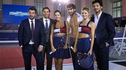 YouTube: Rafael Nadal jugó sugerente partido con bella modelo (FOTOS)