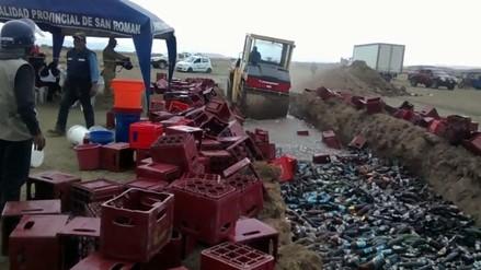 Destruyen medio millar de cajas de cerveza incautadas a bares clandestinos