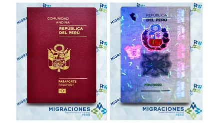 Migraciones difunde imágenes del pasaporte biométrico peruano
