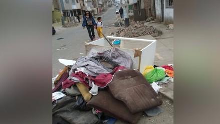 VMT: denuncian desmonte y basura en veredas
