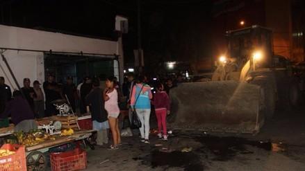 Trujillo: desalojan ambulantes de exmercado Mayorista