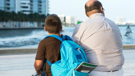 La obesidad se transmite del padre al hijo