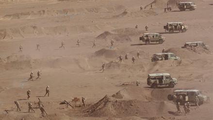 FF.AA. realizaron llamativos ejercicios militares al sur del país