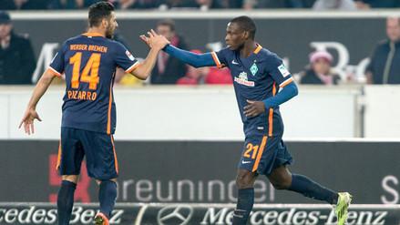 Claudio Pizarro presente en el empate 1-1 del Werder Bremen ante Stuttgart (VIDEO)
