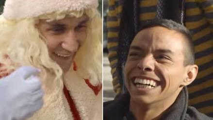 Keylor Navas se disfrazó de Papá Noel para cumplir sueño de joven discapacitado