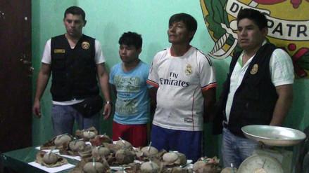 Yurimaguas: capturan a cuatro personas con más de ocho kilos de droga
