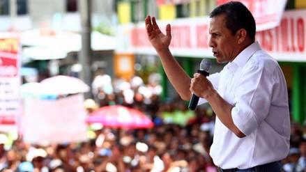 Humala: el pueblo tiene que ponerse de pie si se cambian programas sociales
