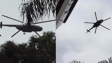 Sobrevuelo de helicópteros generan incertidumbre en limeños