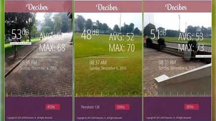 Deciber, una aplicación que medirá cuánto ruido existe a tu alrededor