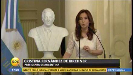 El último discurso de Cristina Fernández como presidenta de Argentina