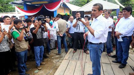 Humala anuncia que se levantará emergencia en algunas zonas del Vraem