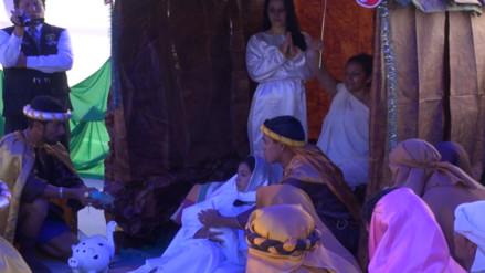 Internos del penal de Chiclayo escenificaron el nacimiento del niño Jesús