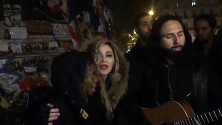 Madonna rindió homenaje a las víctimas del atentado en París