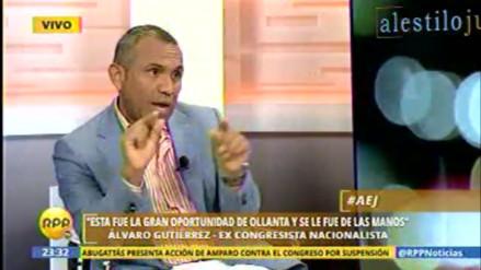 Álvaro Gutiérrez: Usan recursos del Estado para apoyar campaña de César Acuña