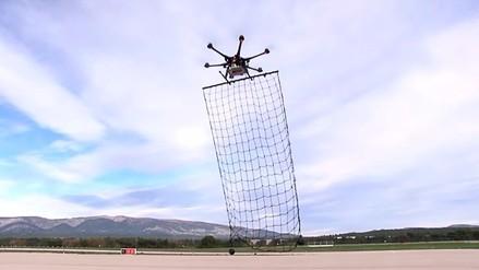 Dron-receptor captura drones que no respetan zonas restringidas