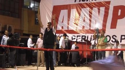 Alan García culminó caravana electoral en distritos piuranos
