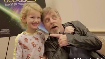 Facebook: Darth Vader y Luke Skywalker visitaron a niños en hospital
