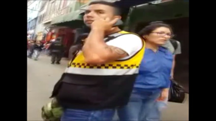Video: sereno cobra coima a ambulante en Gamarra