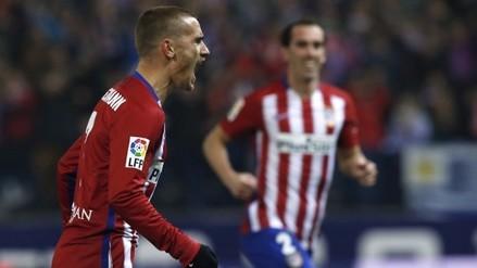 Atlético Madrid ganó 2-1 al Athletic Bilbao y alcanzó al Barcelona en la punta