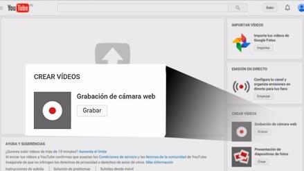 YouTube: ya no podrás grabar videos desde la cámara web