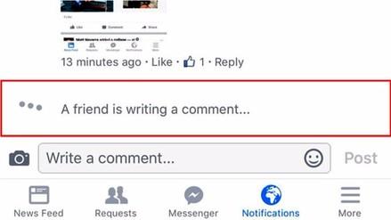 Facebook implementará una alerta para los comentarios en tiempo real