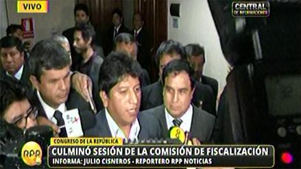 Caso agendas: 29 pasan a condición de investigados en Fiscalización