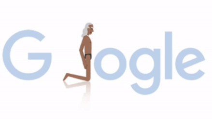 Google celebra al maestro yoga BKS Iyengar con un doodle animado