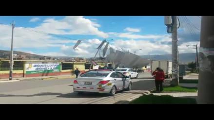 Huancayo: techo de calamina de aldea infantil cae por fuertes vientos