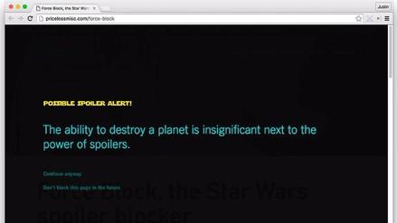Star Wars: extensión de Chrome bloquea posibles spoilers