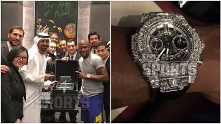 Floyd Mayweather se fue a Dubái y compró un reloj de ¡un millón de dólares! (VIDEO)