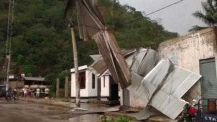 Fuertes vientos afectaron cerca de 20 viviendas en Huancané