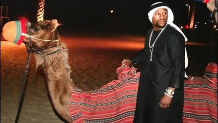 Instagram: Floyd Mayweather se vistió como jeque y paseó por Dubái en camello (FOTOS)