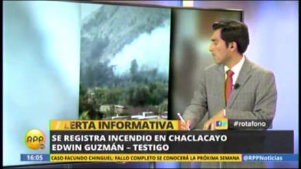 Incendio forestal se produjo en Chaclacayo