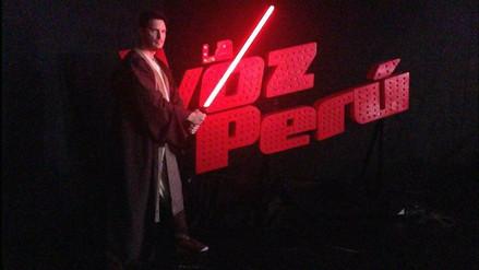 Star Wars: 'la fuerza' llegó el set de La Voz Perú
