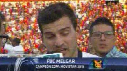 Melgar vs. Sporting Cristal: Bernardo Cuesta rompió en llanto tras ser campeón (VIDEO)