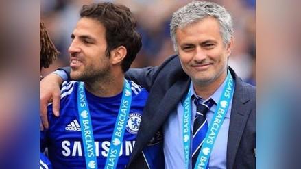 Twitter: Cesc Fábregas y la conmovedora despedida a José Mourinho