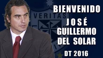 José 'Chemo' Del Solar dirigirá a la Universidad San Martín en el 2016