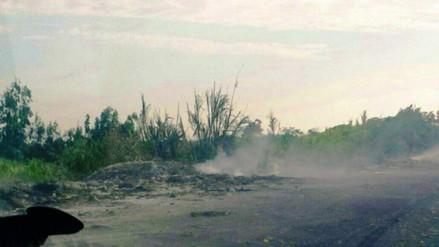 Trujillo: denuncian contaminación por quema de llantas en río Moche
