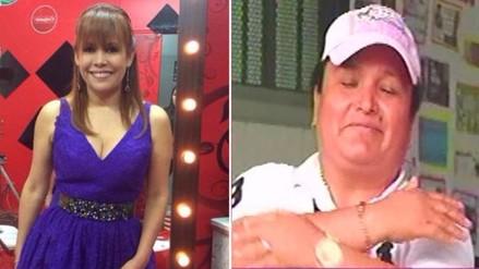 Magaly Medina y Abencia Meza se encontraron en Santa Mónica
