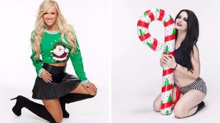 WWE: Paige y Summer Rae festejan la Navidad por adelantado (FOTOS)