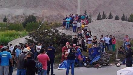 Conductor de mototaxi muere al chocar con un camión en Majes