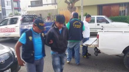 Trujillo: capturan a dos extorsionadores de constructora de colegio