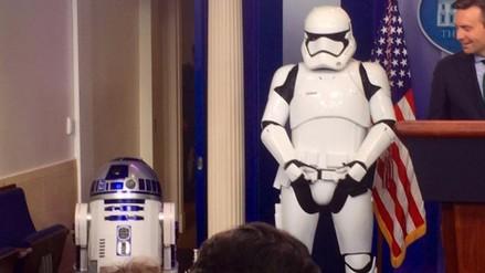 La fiebre de Star Wars llegó a la Casa Blanca