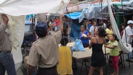 Chepén: ambulantes se enfrentan a policía y serenos para evitar desalojo