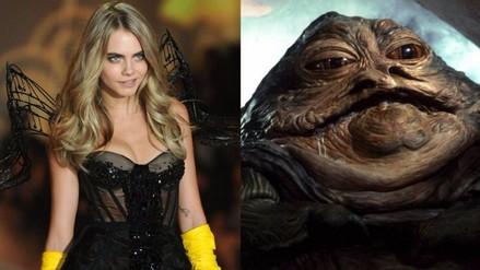 Cara Delevingne se disfrazó de Jabba The Hutt para ver Star Wars