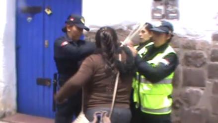 Comerciante agrede físicamente a mujer serenazgo del Cusco