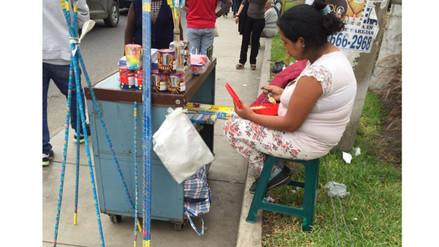 Comas: ambulante vende ilegalmente artefactos pirotécnicos