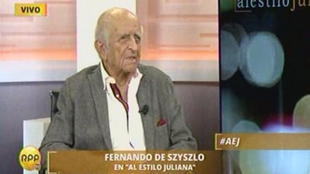 Fernando de Szyszlo avaló candidaturas de Alan García y PPK para elecciones 2016