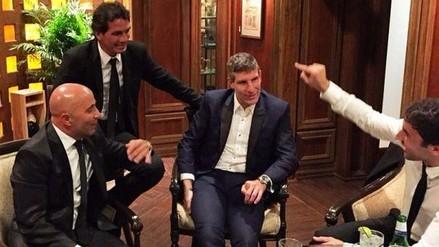 César Vallejo: Franco Navarro estuvo en gala en Miami junto Sampaoli y Palermo