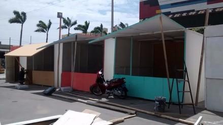 Instalan feria de pirotécnicos en el centro de Chiclayo